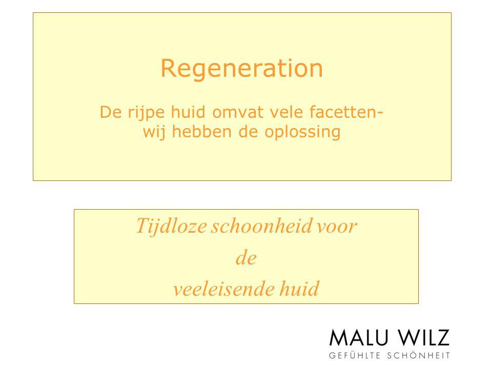 Regeneration De rijpe huid omvat vele facetten- wij hebben de oplossing Tijdloze schoonheid voor de veeleisende huid