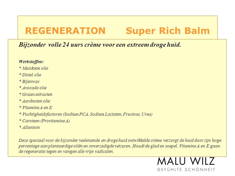 REGENERATION Super Rich Balm Bijzonder volle 24 uurs crème voor een extreem droge huid.