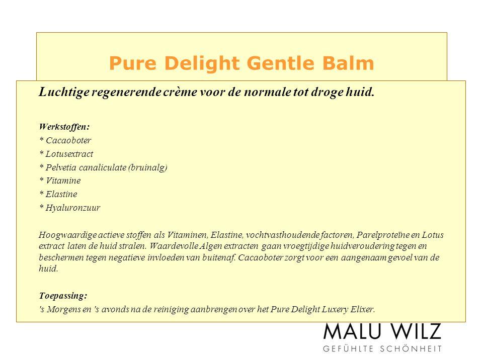 Pure Delight Gentle Balm Luchtige regenerende crème voor de normale tot droge huid.