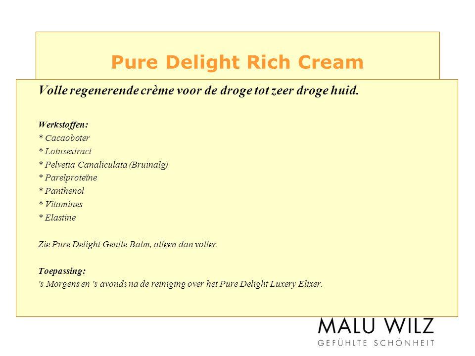 Pure Delight Rich Cream Volle regenerende crème voor de droge tot zeer droge huid.