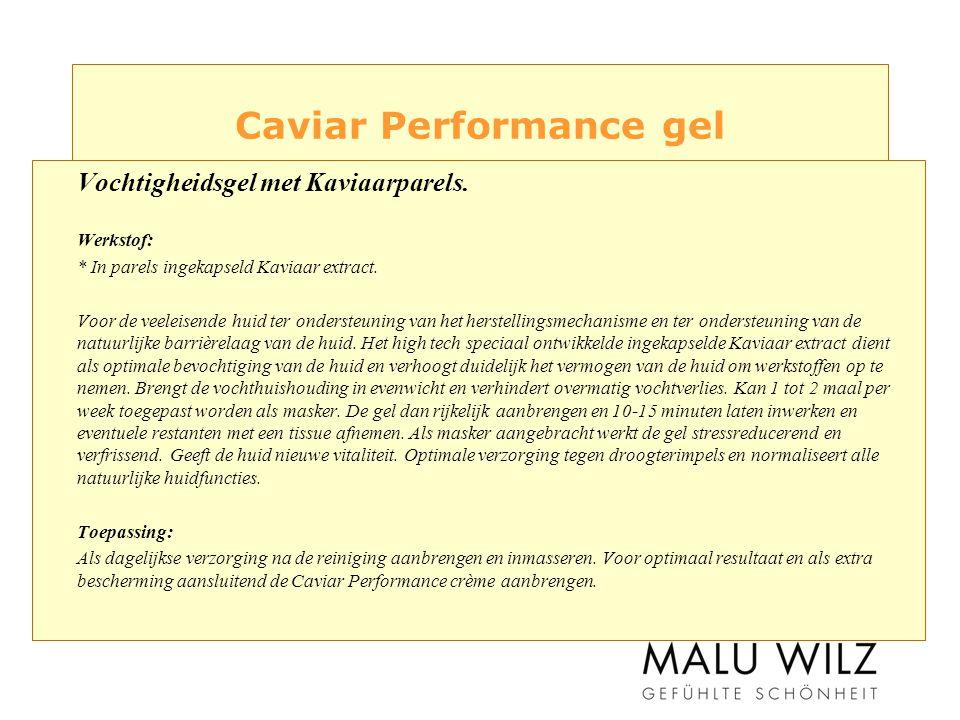 Caviar Performance gel Vochtigheidsgel met Kaviaarparels.
