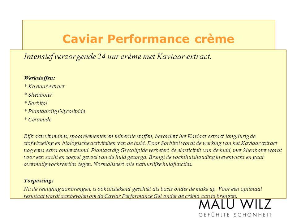 Caviar Performance crème Intensief verzorgende 24 uur crème met Kaviaar extract.
