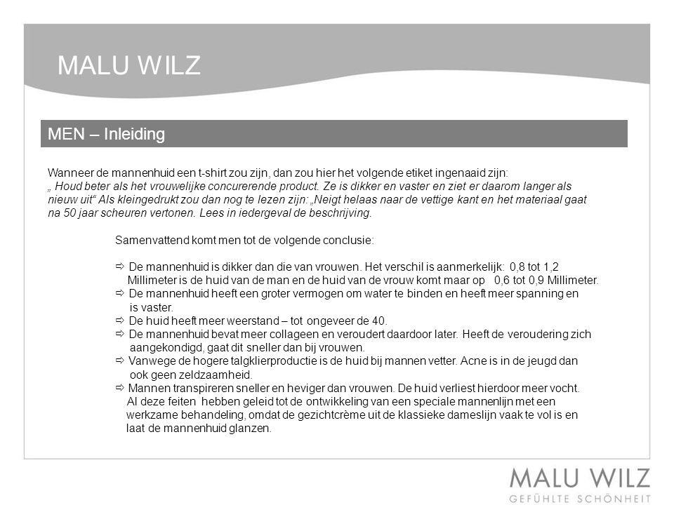 MALU WILZ MEN – De producten Face Cleansing Gel Beschrijving: Verfrissende reinigingsgel voor de veeleisende mannenhuid.