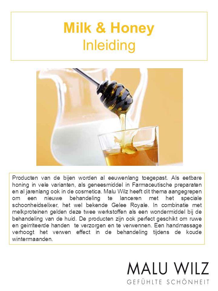 Milk & Honey Inleiding Producten van de bijen worden al eeuwenlang toegepast. Als eetbare honing in vele varianten, als geneesmiddel in Farmaceutische