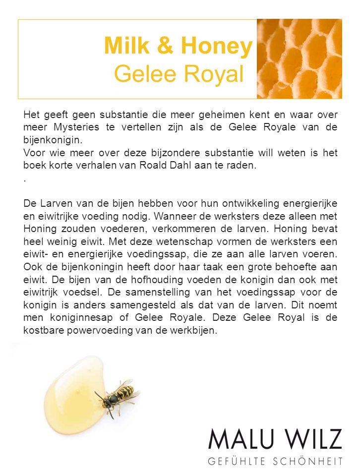 Milk & Honey Gelee Royal Gelée Royale is een sap.Het bestaat hoofdzakelijk uit water (60%-70%).