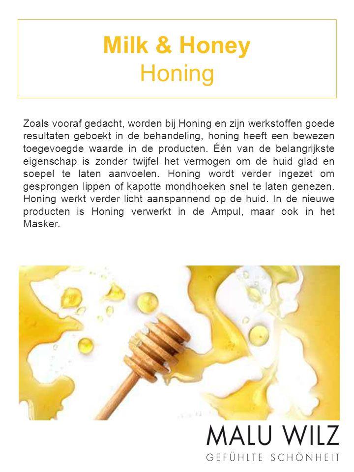 Milk & Honey Melk Melk heeft vele waardevolle cosmetische verzorgende stoffen, die de biologische functies van de huid, zoals de bakteriologische bescherming, de vochtregulatie en de elasticiteit van de huid zichtbaar verbeteren.
