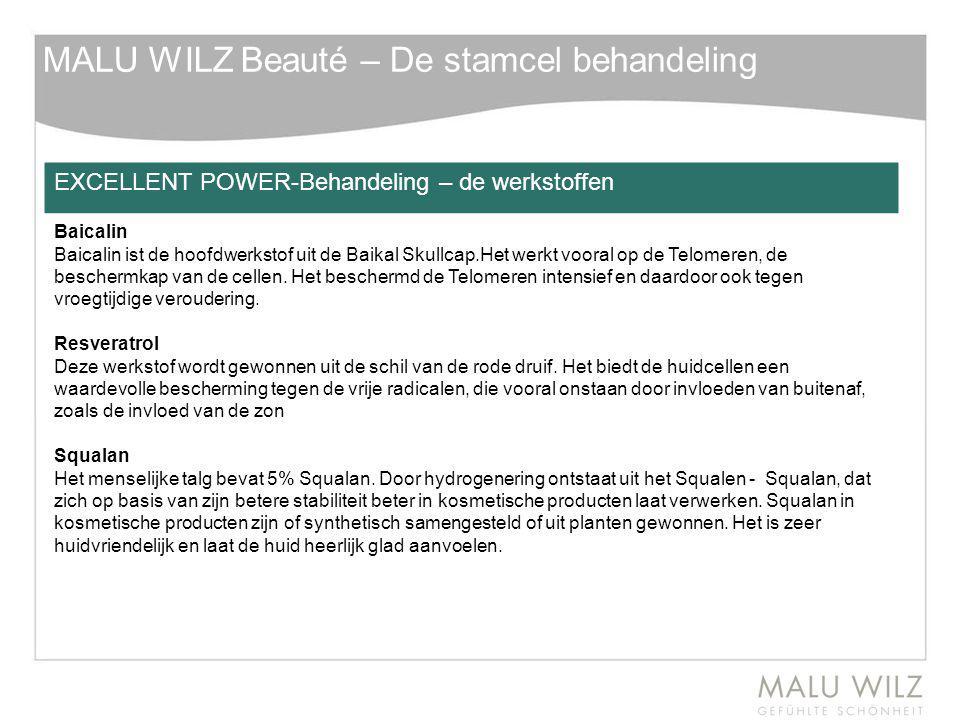 MALU WILZ Beauté – De stamcel behandeling EXCELLENT POWER-Behandeling – de werkstoffen Baicalin Baicalin ist de hoofdwerkstof uit de Baikal Skullcap.H