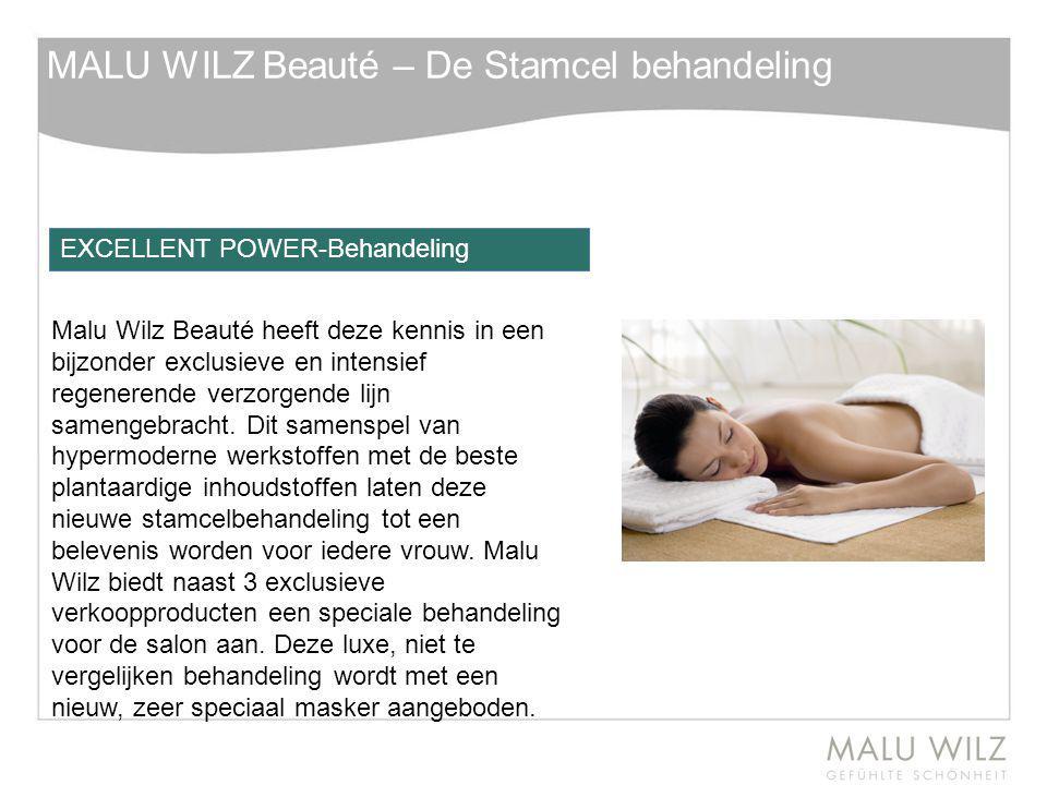 MALU WILZ Beauté – De Stamcel behandeling Malu Wilz Beauté heeft deze kennis in een bijzonder exclusieve en intensief regenerende verzorgende lijn sam
