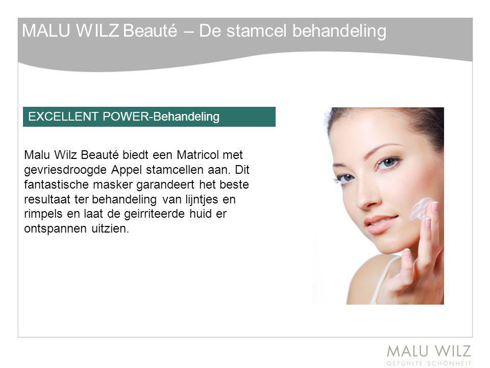 MALU WILZ Beauté – De stamcel behandeling Malu Wilz Beauté biedt een Matricol met gevriesdroogde Appel stamcellen aan. Dit fantastische masker garande