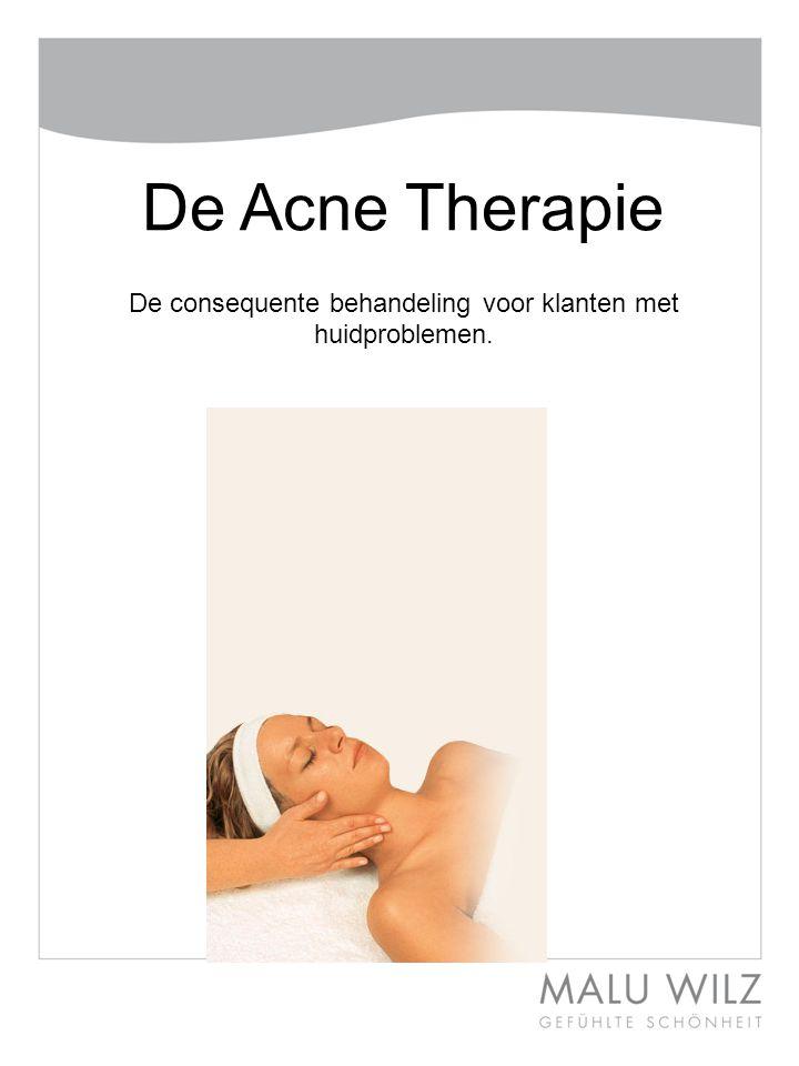 De Acne Therapie De consequente behandeling voor klanten met huidproblemen.