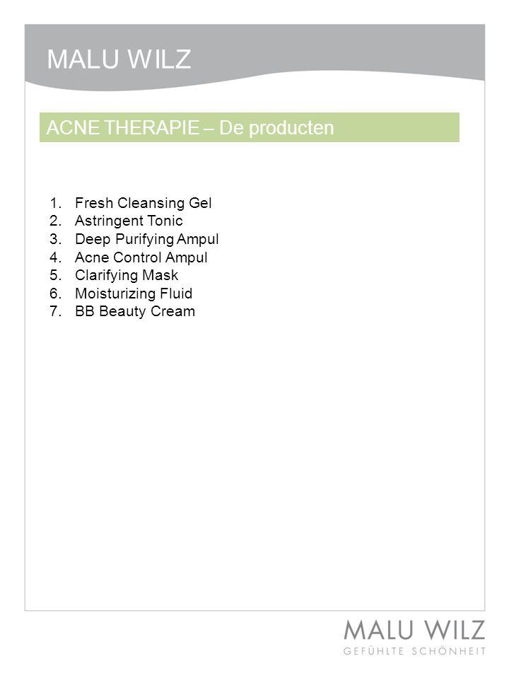 1.Fresh Cleansing Gel 2.Astringent Tonic 3.Deep Purifying Ampul 4.Acne Control Ampul 5.Clarifying Mask 6.Moisturizing Fluid 7.BB Beauty Cream ACNE THE