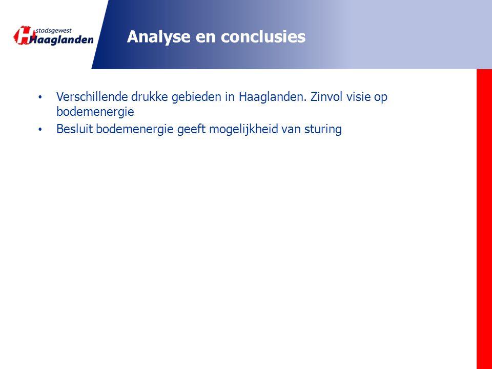 Analyse en conclusies Verschillende drukke gebieden in Haaglanden.
