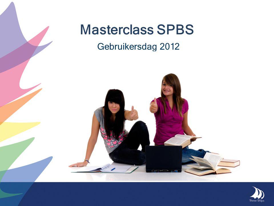 Masterclass SPBS Gebruikersdag 2012