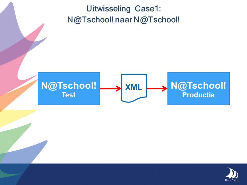 Uitwisseling Case1: N@Tschool! naar N@Tschool! N@Tschool! Test N@Tschool! Productie XML