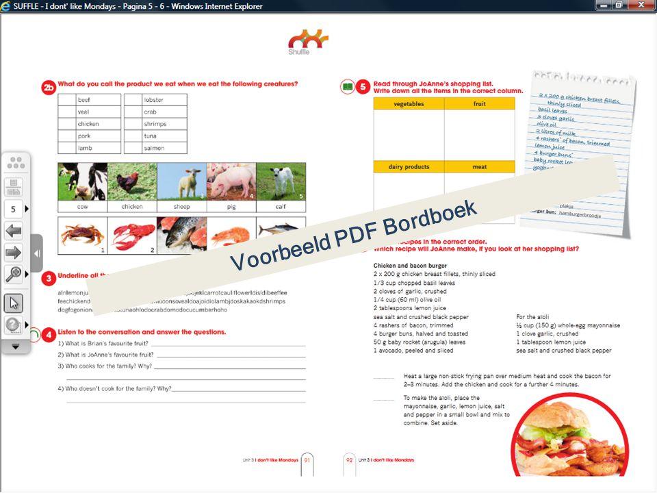 Voorbeeld PDF Bordboek