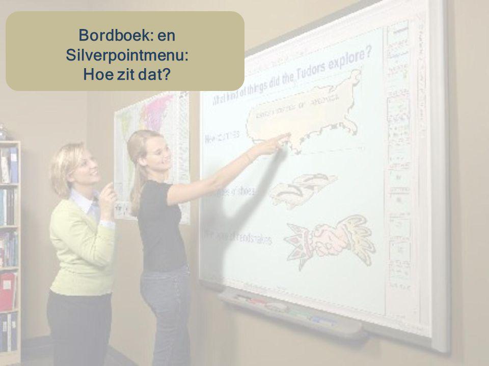 Wat is een Bordboek.Een docent kan via het digitale bord door een bordboek bladeren.