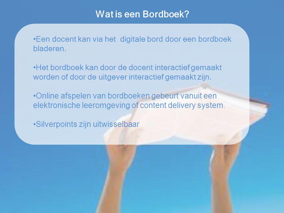 Wat is een Bordboek? Een docent kan via het digitale bord door een bordboek bladeren. Het bordboek kan door de docent interactief gemaakt worden of do
