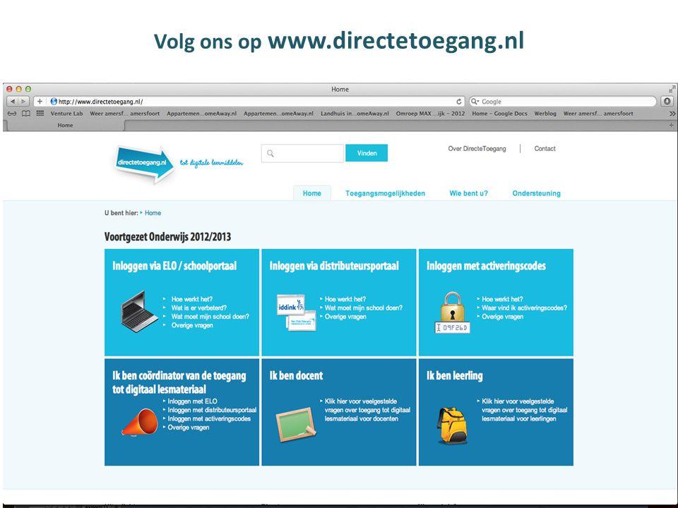 Volg ons op www.directetoegang.nl