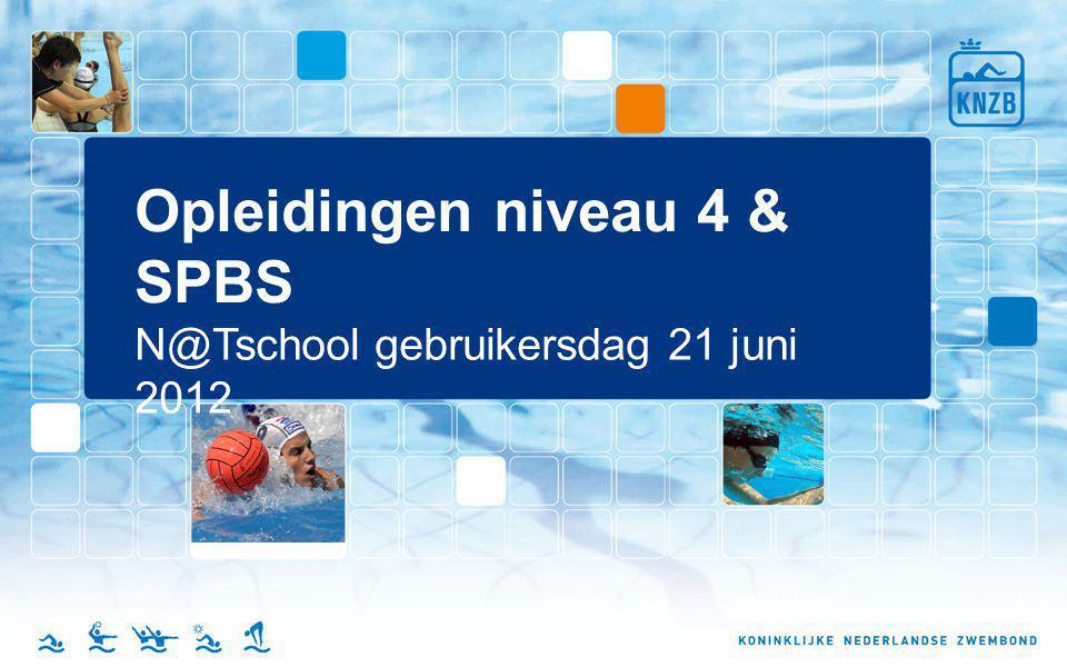 Opleidingen niveau 4 & SPBS N@Tschool gebruikersdag 21 juni 2012