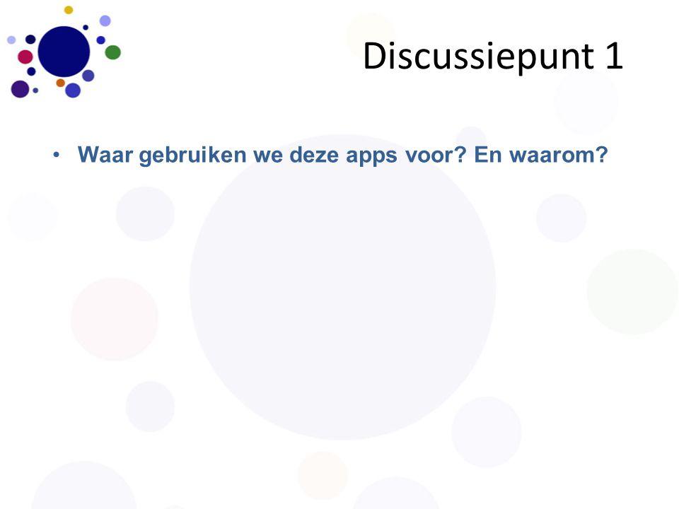 Discussiepunt 2 Waar missen we de verbinding tussen cloudapplicaties en de ELO?