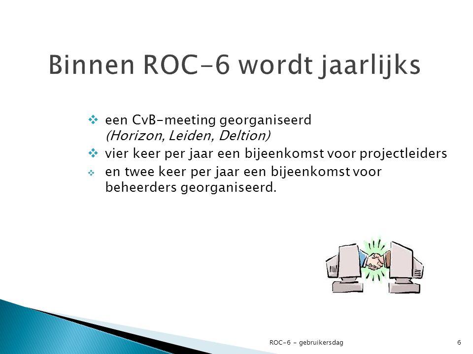 een CvB-meeting georganiseerd (Horizon, Leiden, Deltion)  vier keer per jaar een bijeenkomst voor projectleiders  en twee keer per jaar een bijeen