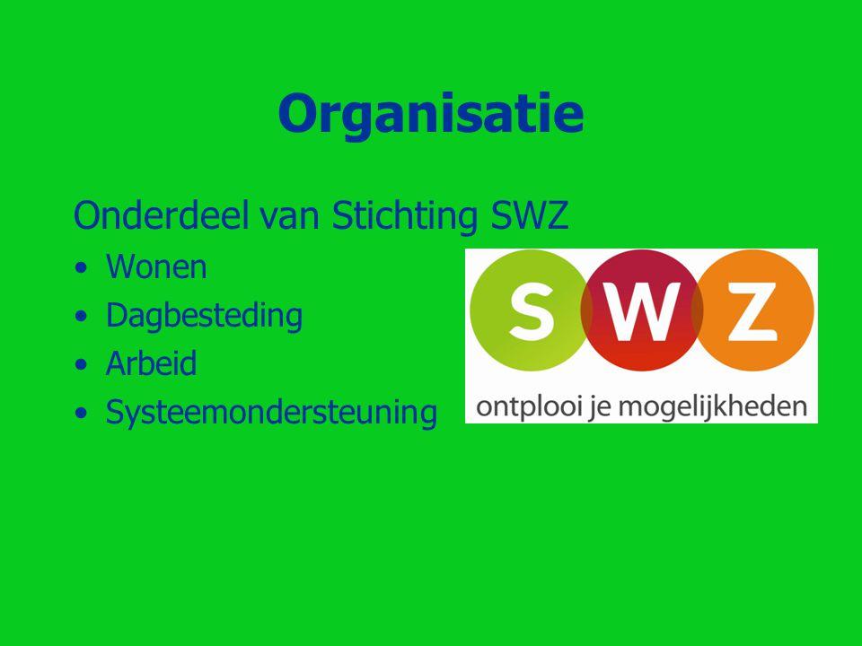 Organisatie Onderdeel van Stichting SWZ Wonen Dagbesteding Arbeid Systeemondersteuning