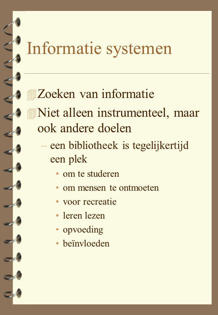 Effecten van informatie 4 utilitair 4 inspiratie 4 educatief 4 recreatief