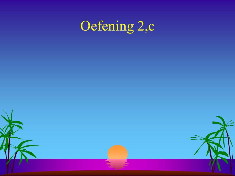 Oefening 2,c