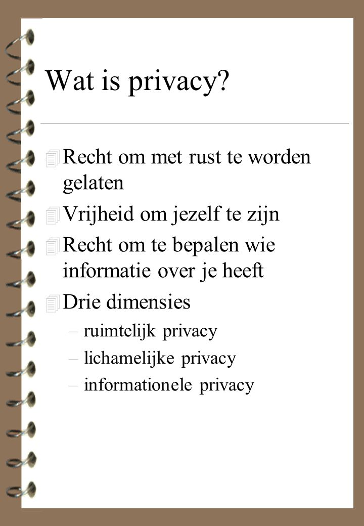 Wat is privacy.
