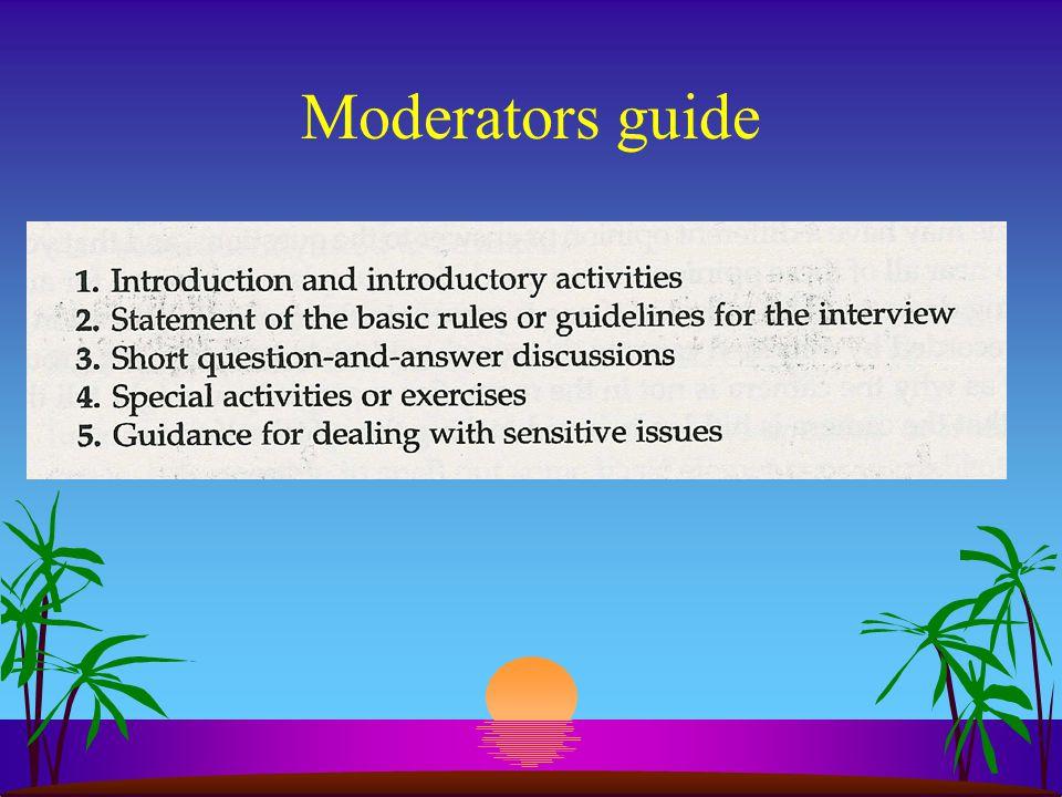 Moderators guide