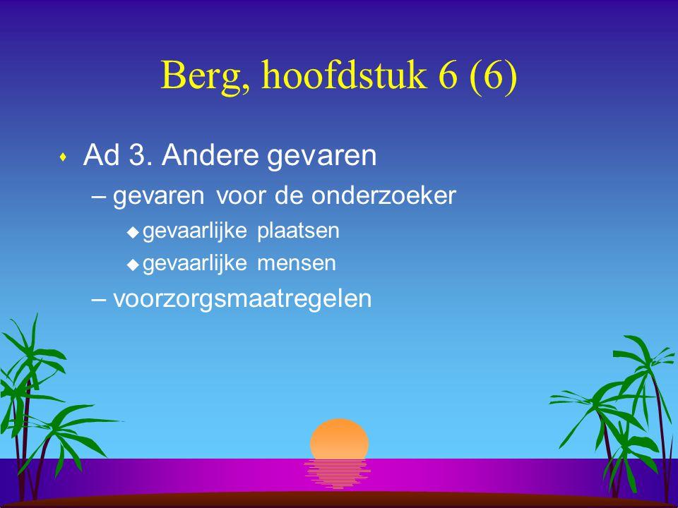 Berg, hoofdstuk 6 (6) s Ad 3.