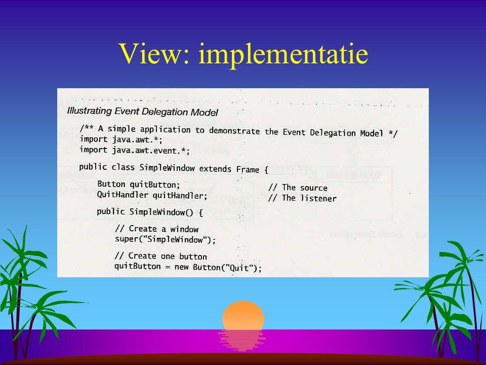 View: implementatie