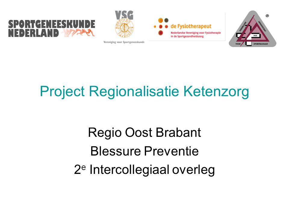 Programma 17 mei 2010 Locatie: Elkerliek Ziekenhuis te Helmond 2e Intercollegiaal Overleg - Regionalisatie Oost Brabant 19.00 uur Ontvangst 19.20 uur Korte toelichting van de stand van zaken van Sportzorgketen ontwikkelingen in de regioMw.