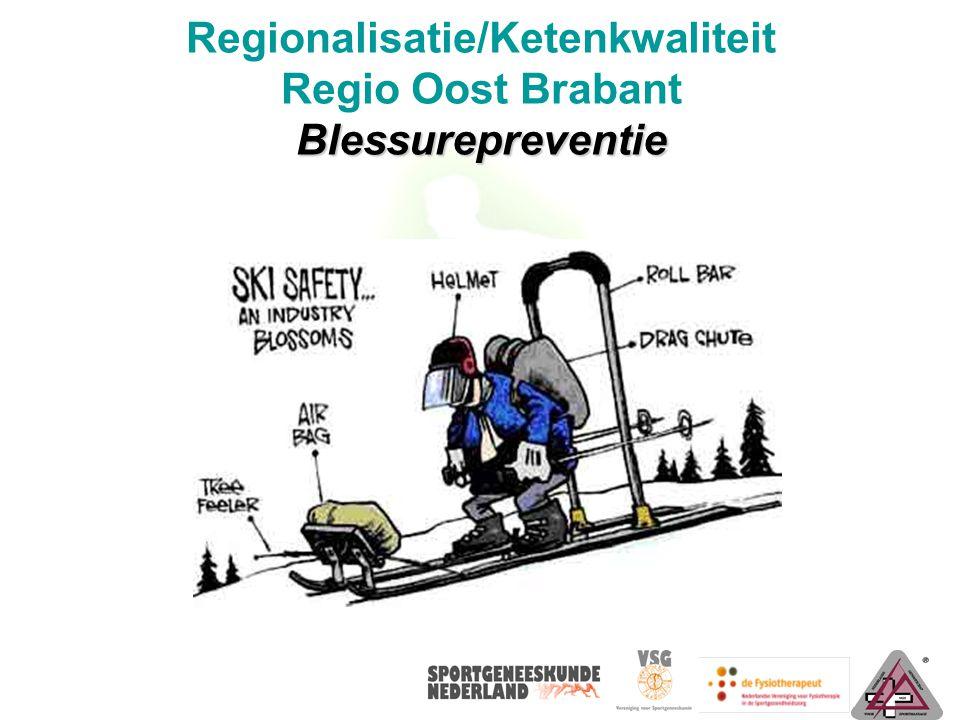 Blessurepreventie Regionalisatie/Ketenkwaliteit Regio Oost Brabant Blessurepreventie