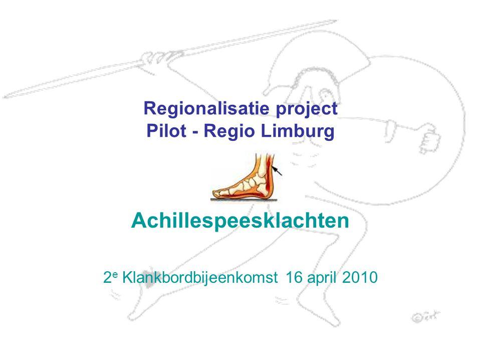 2 Doel van het project Ketenafspraken rondom diagnosegroep Ketenkwaliteit Vertalen landelijk niveau