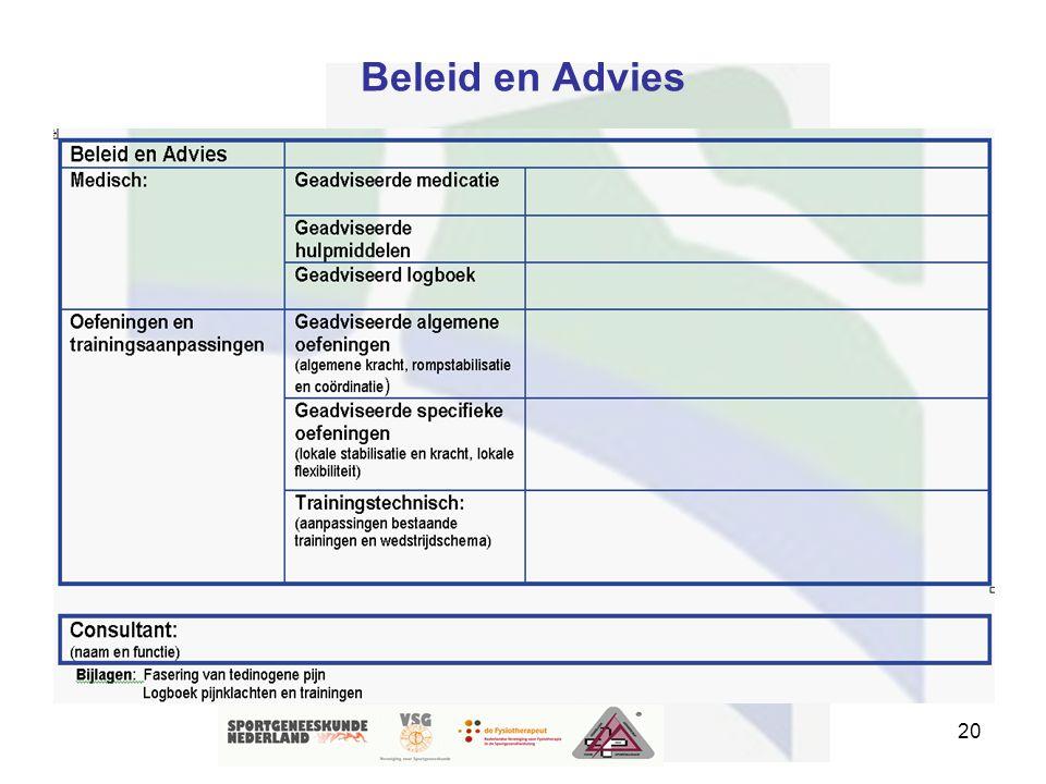 20 Beleid en Advies