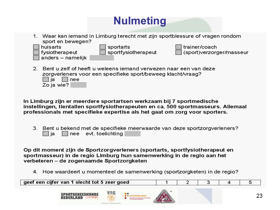 23 Nulmeting