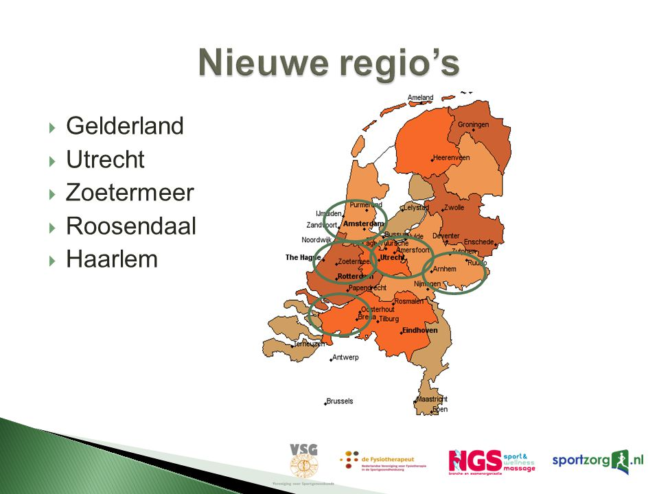  Gelderland  Utrecht  Zoetermeer  Roosendaal  Haarlem