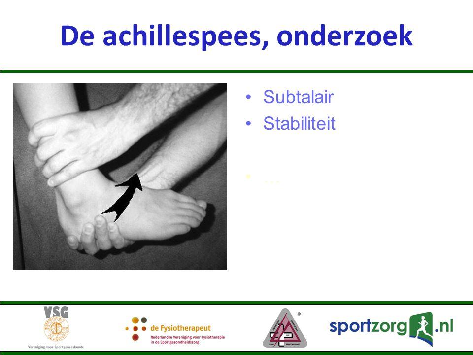 De achillespees, onderzoek Subtalair Stabiliteit …
