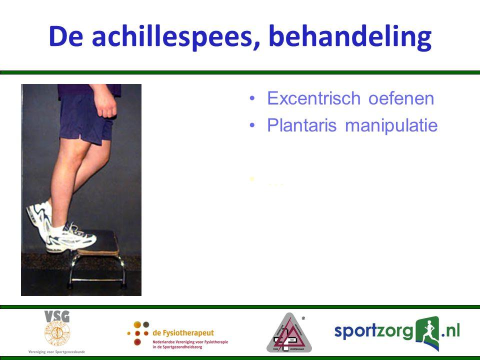 De achillespees, behandeling Excentrisch oefenen Plantaris manipulatie …
