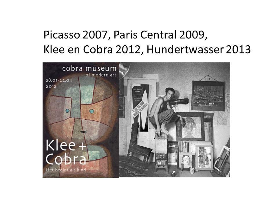 Picasso 2007, Paris Central 2009, Klee en Cobra 2012, Hundertwasser 2013