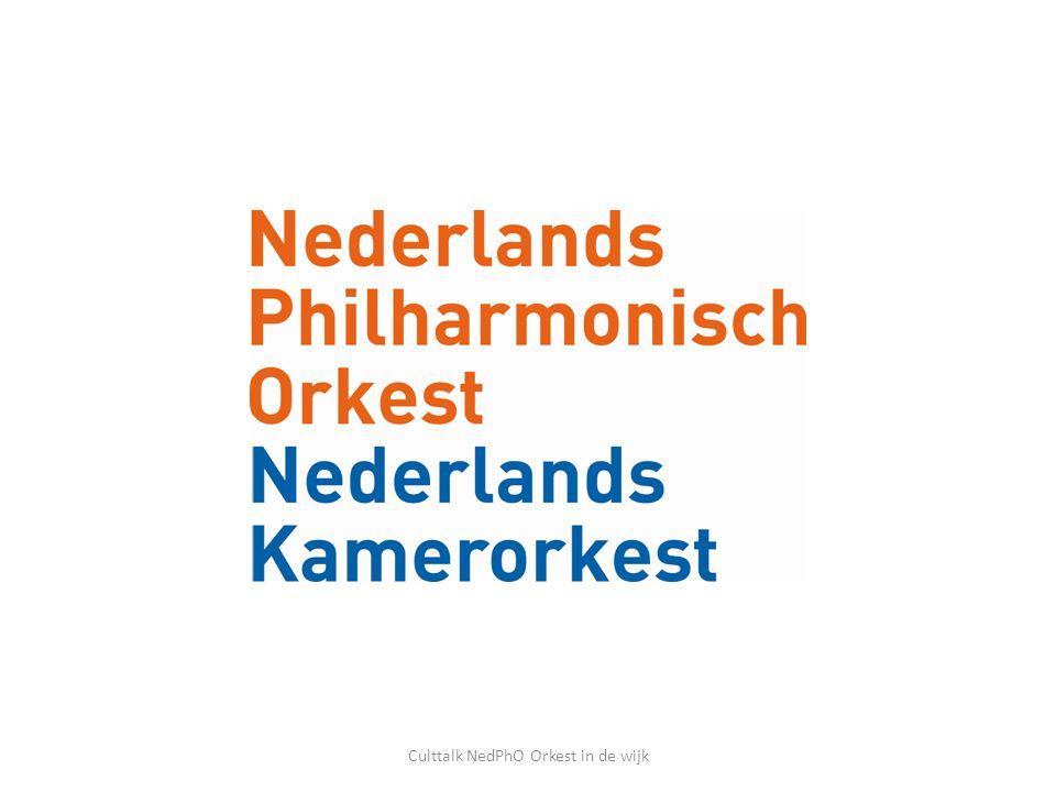 Concerten op School: kleuters Culttalk NedPhO Orkest in de wijk