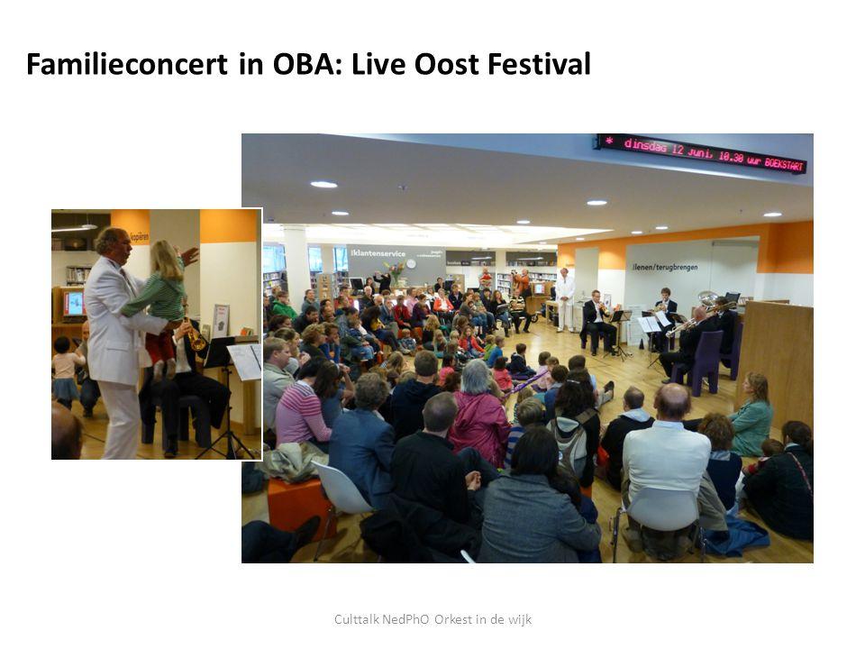 Culttalk NedPhO Orkest in de wijk Familieconcert in OBA: Live Oost Festival