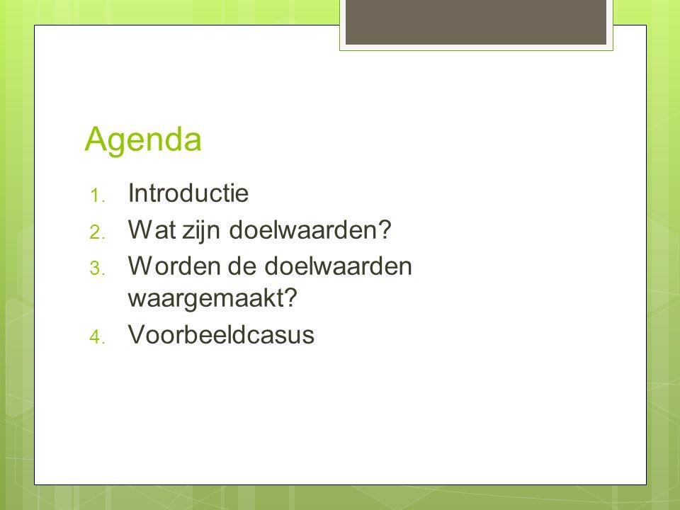 Agenda 1. Introductie 2. Wat zijn doelwaarden. 3.