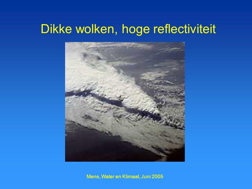 Mens, Water en Klimaat, Juni 2005 Dikke wolken, hoge reflectiviteit