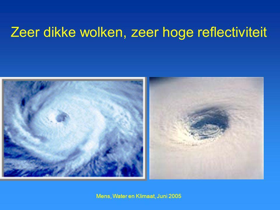 Mens, Water en Klimaat, Juni 2005 Zeer dikke wolken, zeer hoge reflectiviteit
