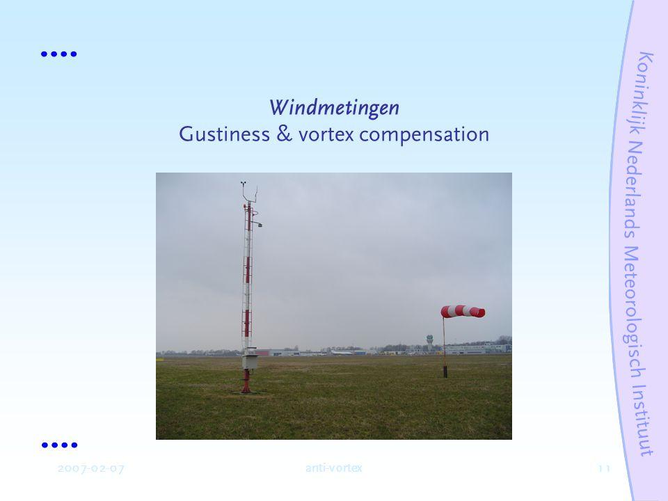 2 2007-02-07anti-vortex Variabele en positie Windsnelheid (FF) en –richting.
