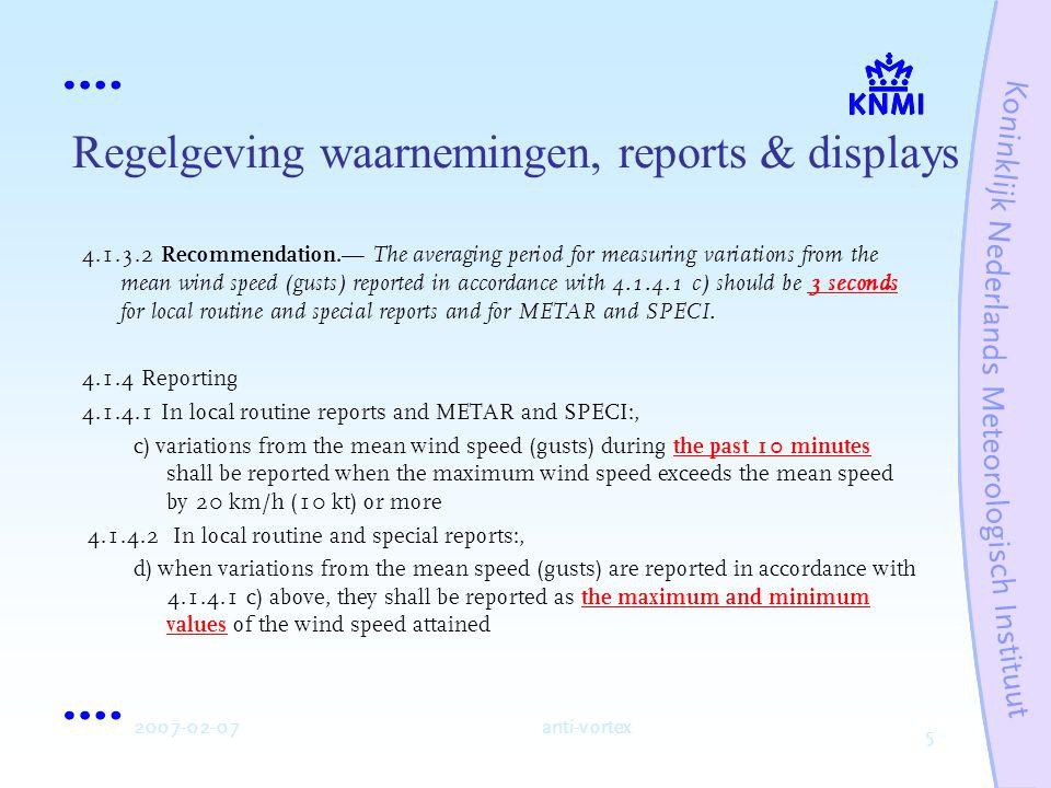 6 2007-02-07anti-vortex Regelgeving waarnemingen, reports & displays ICAO Doc.