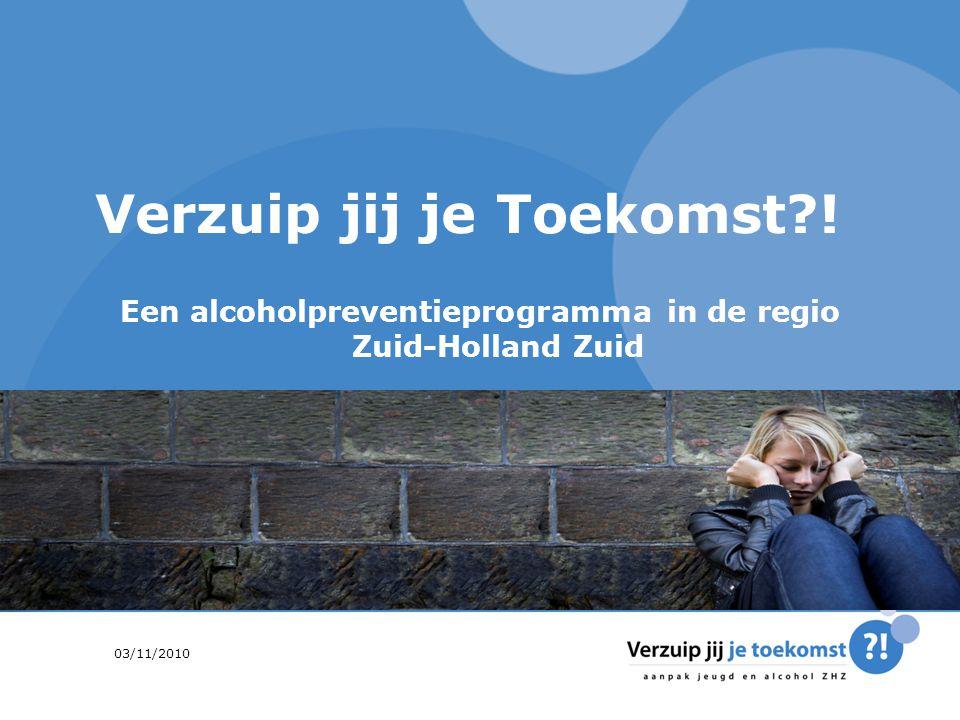 september '142 Agenda Alcohol en jongeren in Zuid-Holland Zuid Aanleiding voor de onderzoeksvraag aan CEPHIR De aanbevelingen Wat heeft 'Verzuip jij je toekomst?!' met het onderzoek gedaan?