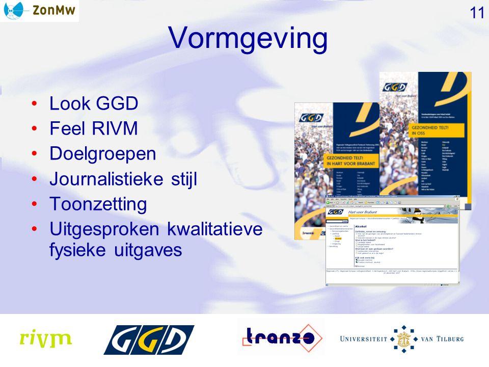 Vormgeving Look GGD Feel RIVM Doelgroepen Journalistieke stijl Toonzetting Uitgesproken kwalitatieve fysieke uitgaves 11